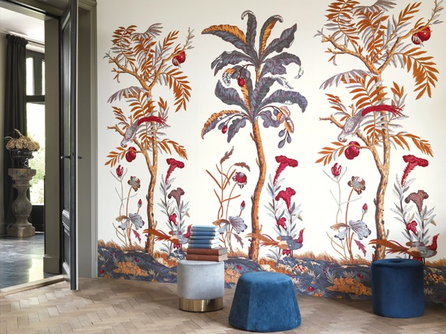 cole and son wall mural flower
